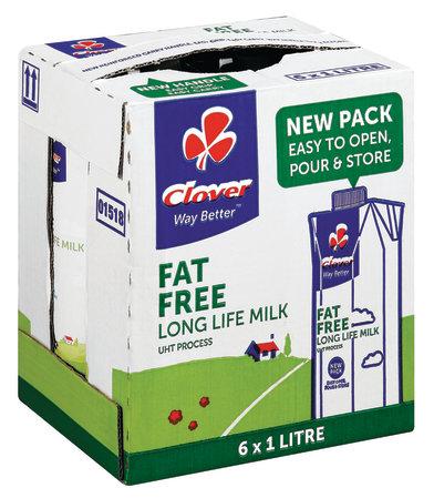 Clover Fat Free Milk x6 Pack